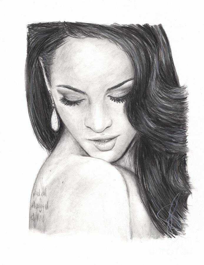 Megan Fox Drawing - Megan Fox by Rosalinda Markle
