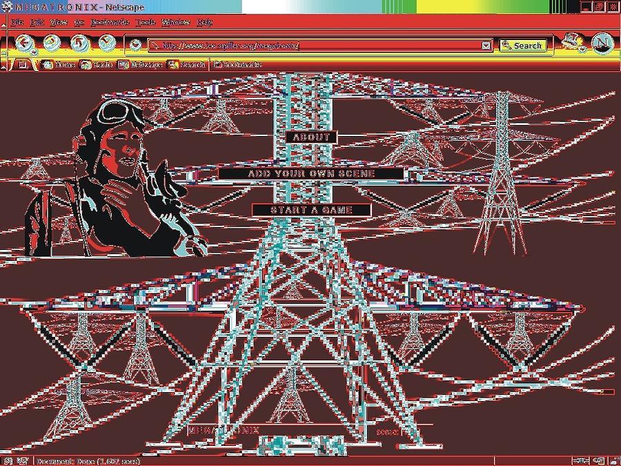 Net Art Digital Art - Megatronix by Teo Spiller