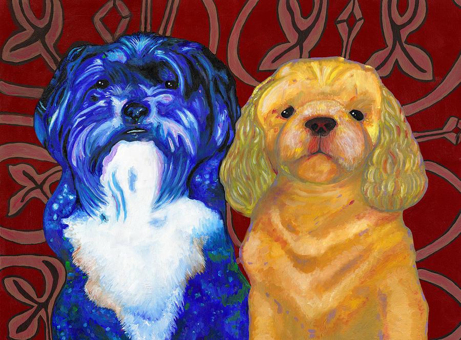 Dog Painting - Mei-mei And Honeybear by Bronwen Skye