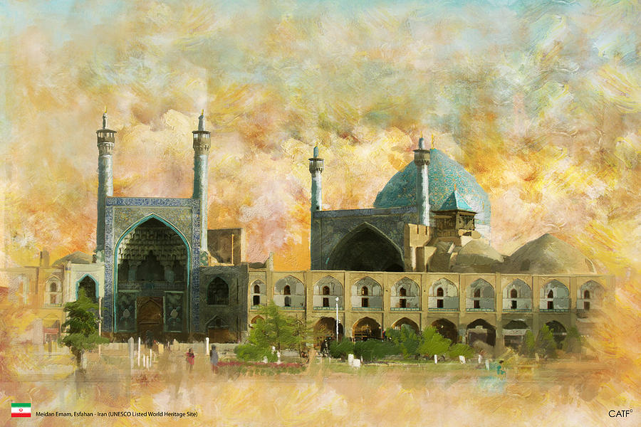 Iran Art Painting - Meidan Emam Esfahan by Catf