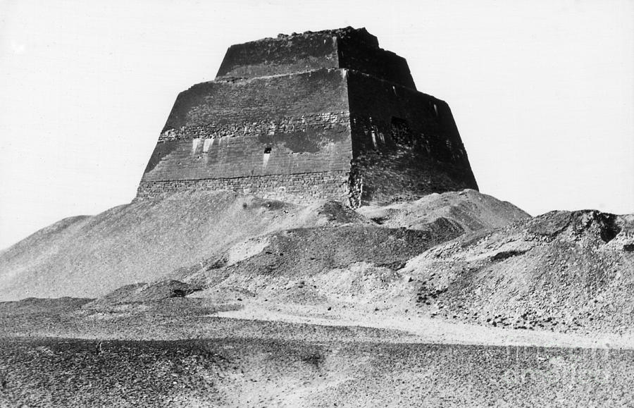 Archeology Photograph - Meidum Pyramid, 1879 by Science Source