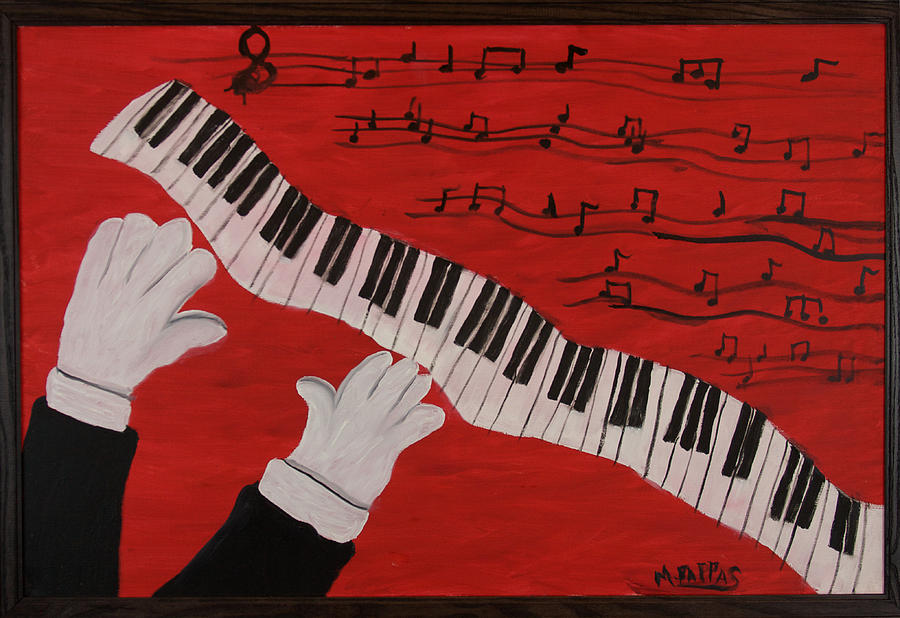 Piano Player Painting - Meistro by Margaret Pappas