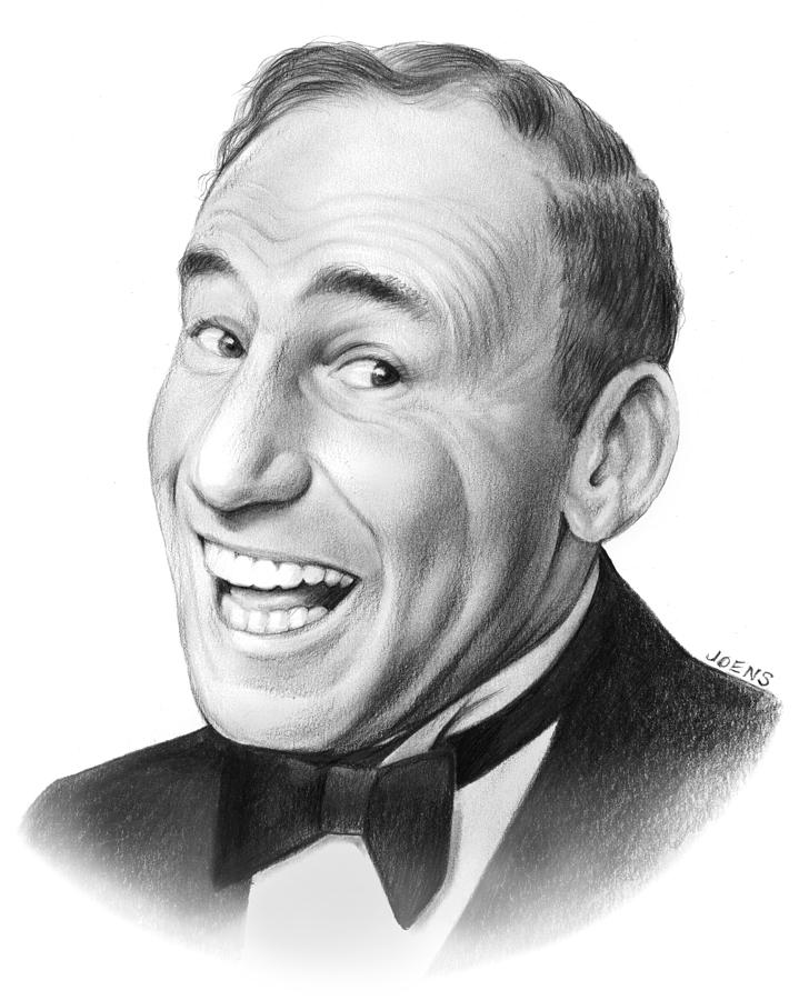 Celebrities Drawing - Mel Brooks by Greg Joens