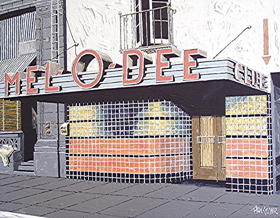 Sacramento Painting - Mel O Dee Club by Paul Guyer