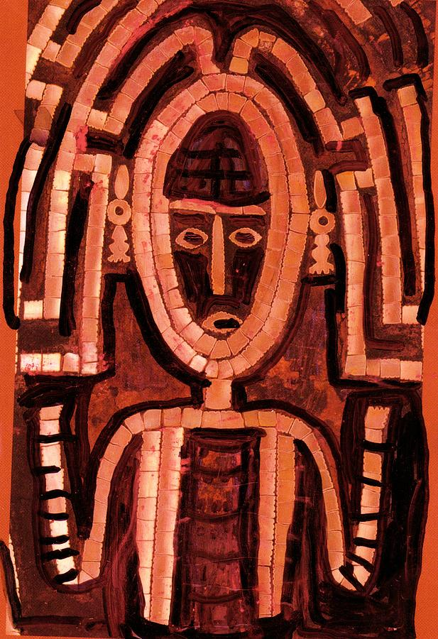 Ancient Mixed Media - Melanesian Icon by Anne-Elizabeth Whiteway
