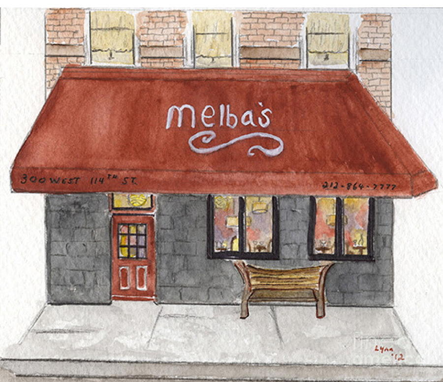Melba's Painting - Melbas Restaurants by AFineLyne