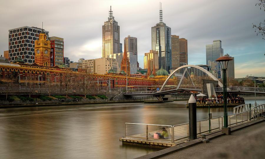 Melbourne City View From Southbank Pier Photograph by Mariusz Kluzniak
