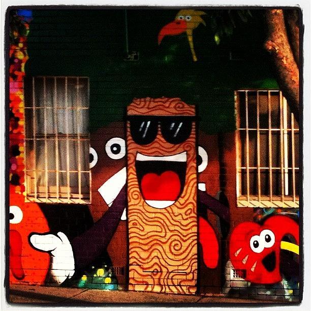 Streetart Photograph - #melbourne #streetart #fun #wall #brick by Katie Ball