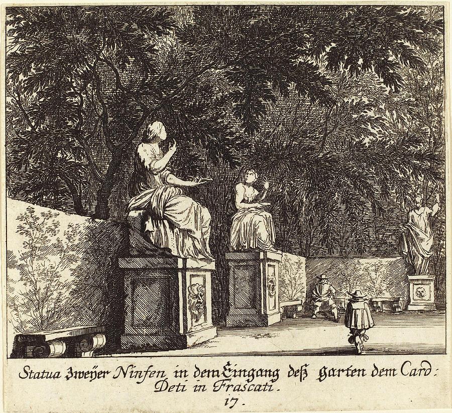 Melchior Küsel After Johann Wilhelm Baur German 1626 Drawing By