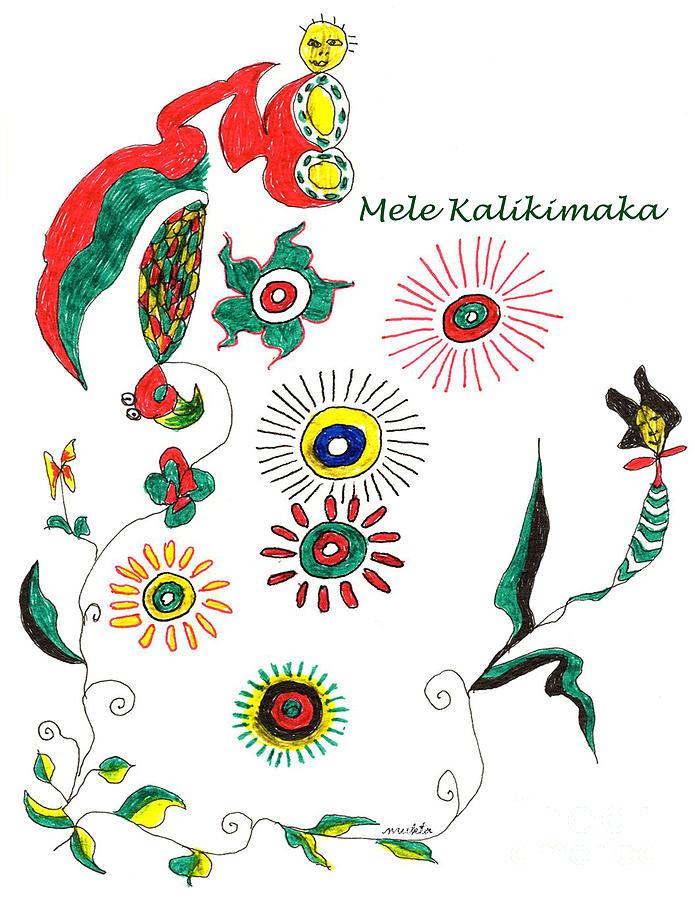 Mele Kalikimaka Drawing by Mukta Gupta