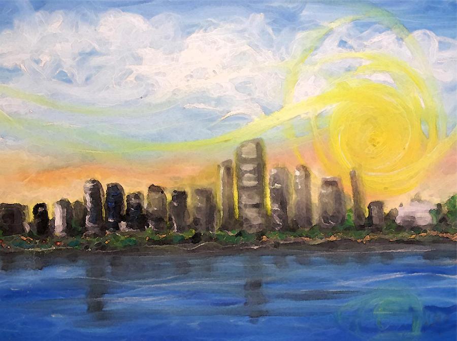 Miami Painting - Melisas Sunrise by Jorge Delara