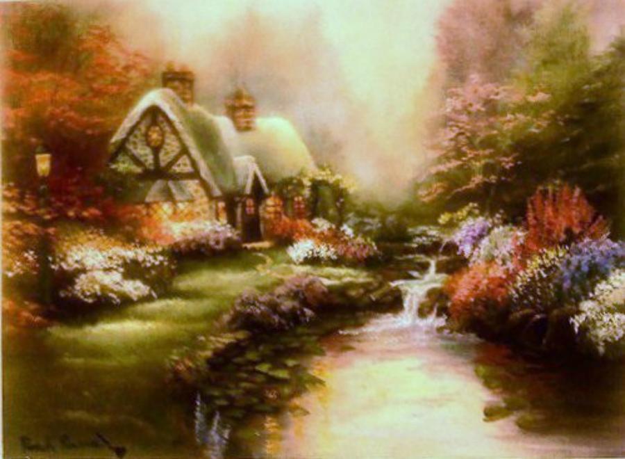 Landscape Painting - Mellow by Pamela Powers
