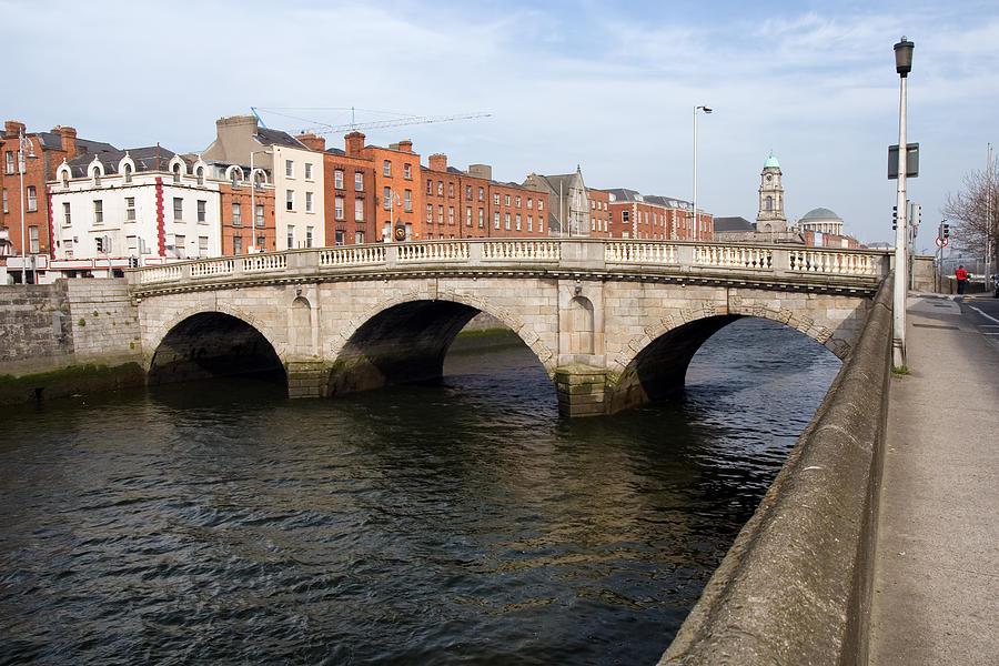 Dublin Photograph - Mellows Bridge In Dublin by Artur Bogacki
