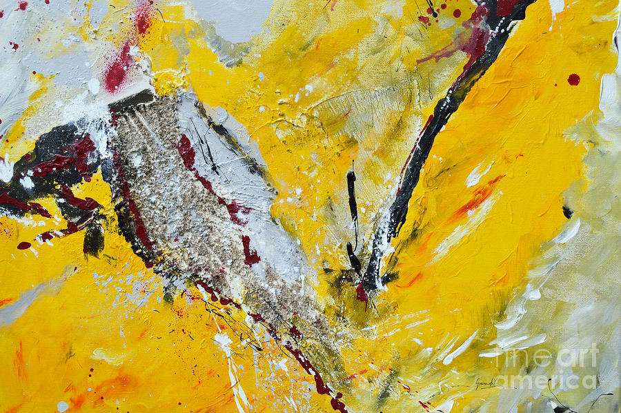 Abstract Painting Painting - Melody Of Passion by Ismeta Gruenwald