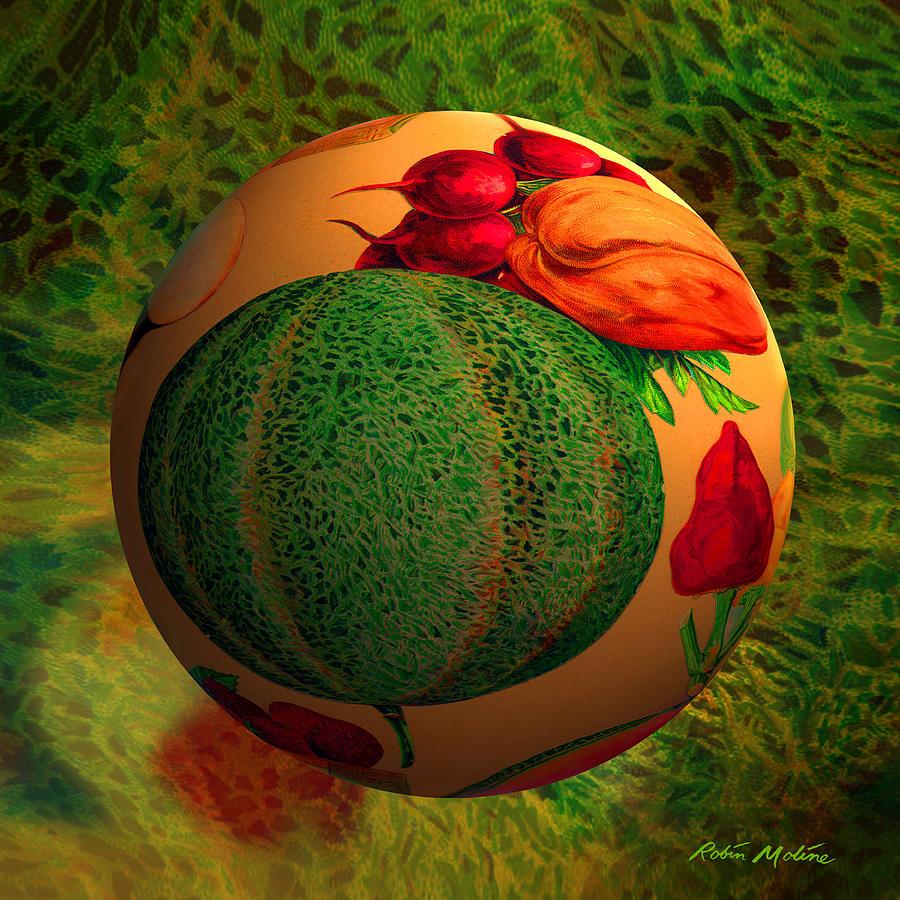 Melon Digital Art - Melon Ball  by Robin Moline