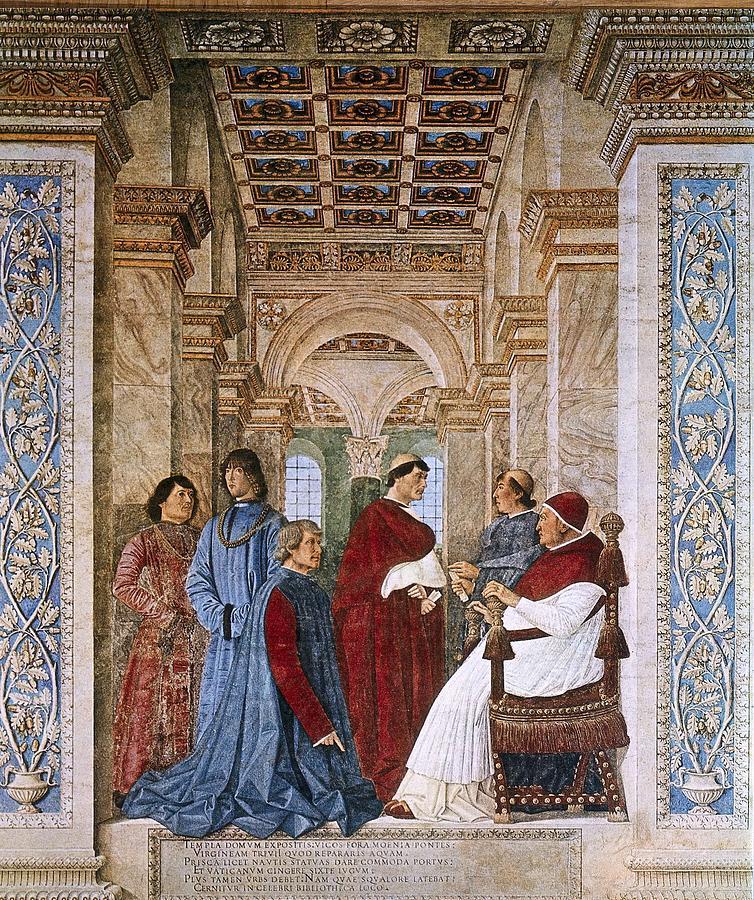 Scene Photograph - Melozzo Da Forli 1438-1494. Sixtus Iv by Everett
