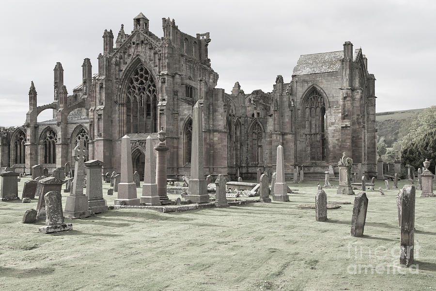 Scotland Photograph - Melrose Abbey by Juergen Klust