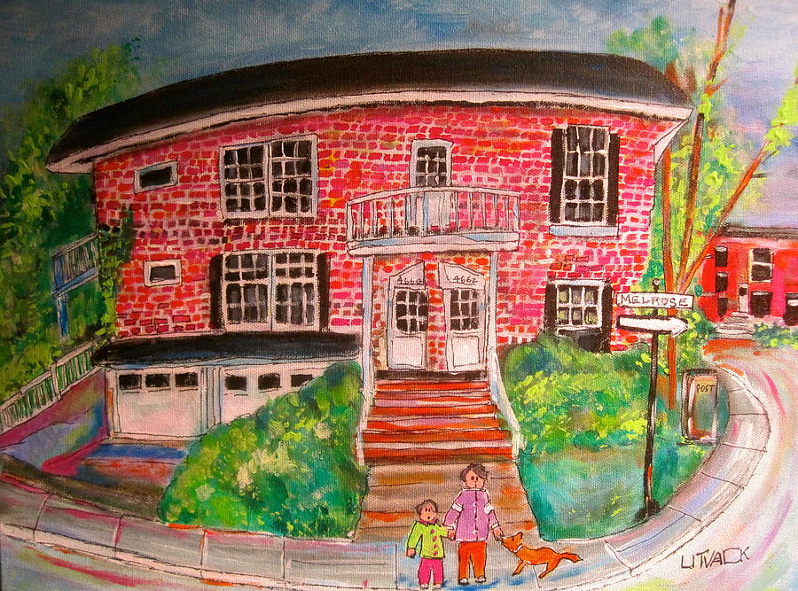 Montreal Painting - Melrose In Notre Dame De Grace by Michael Litvack