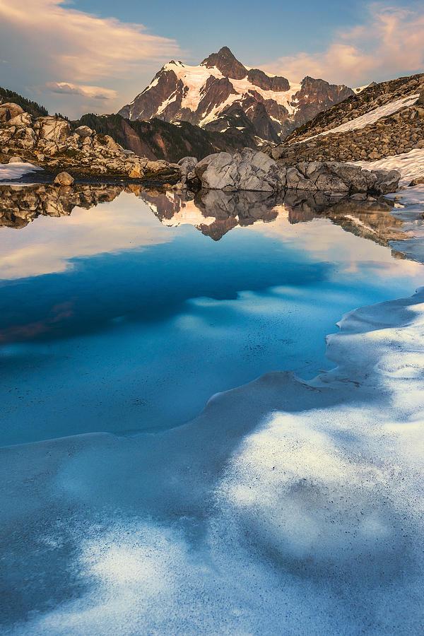 Mount Shuksan Photograph - Melt by Ryan Manuel