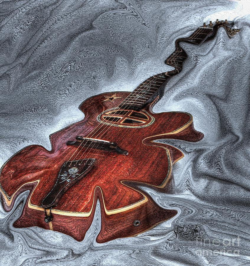 Acoustical Photograph - Melted Digital Guitar Art By Steven Langston by Steven Lebron Langston