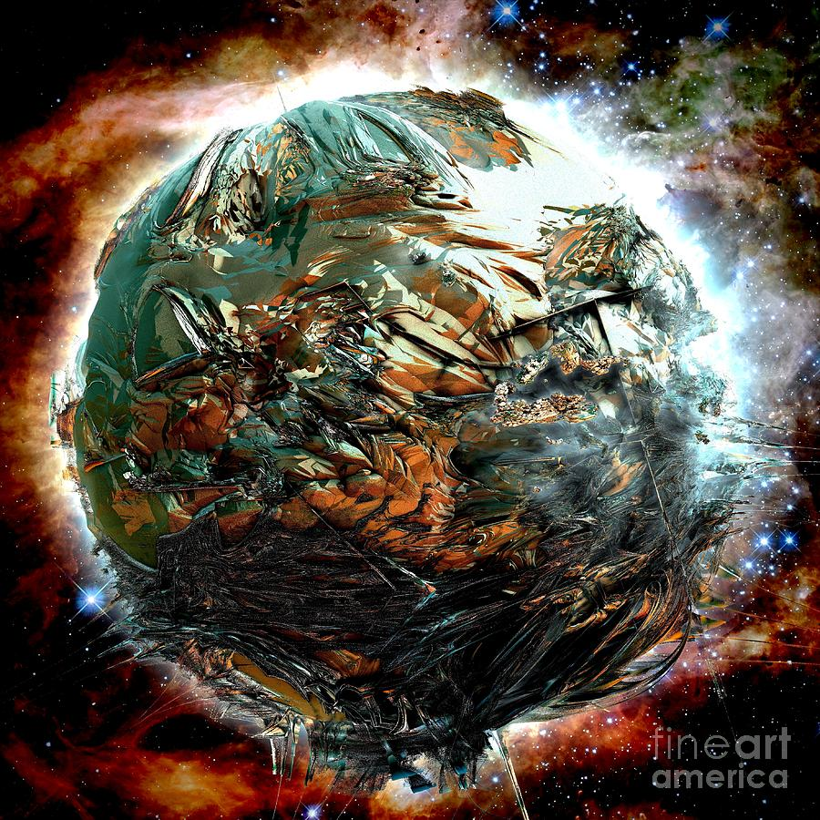 Digital Digital Art - Melting Planet by Bernard MICHEL