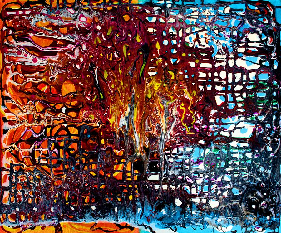 Colorful Painting - Melting Pot by Laura Barbosa
