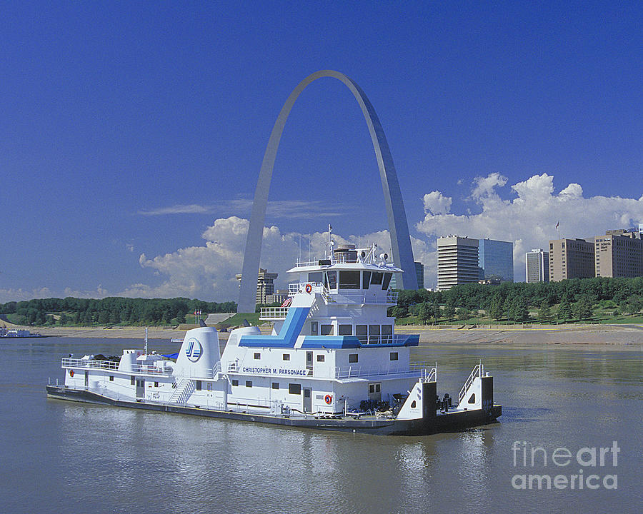 Memco Towboat In St Louis Photograph by Garry McMichael