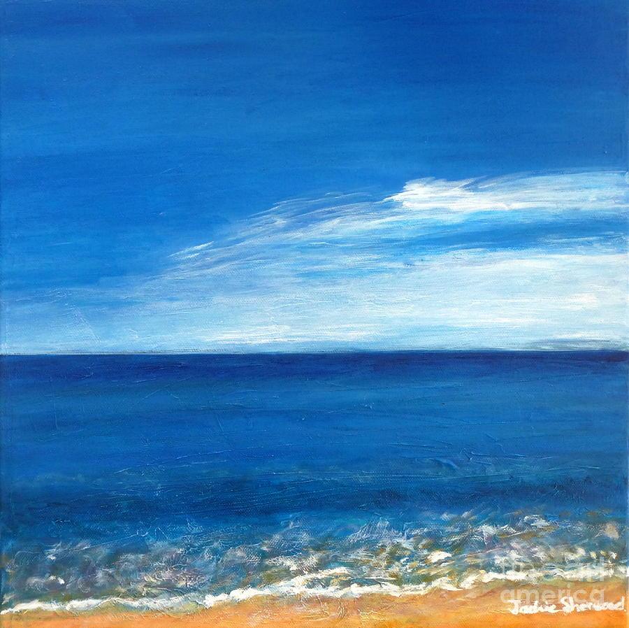 Meme Beach Skies - Koroni - Greece by Jackie Sherwood