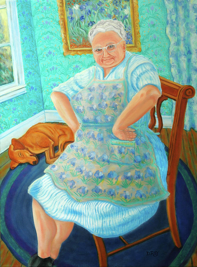 Dwain Painting - Memere by Dwain Ray