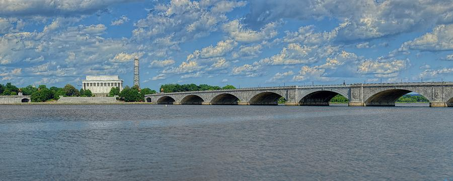 Memorial Bridge After The Storm by Metro DC Photography