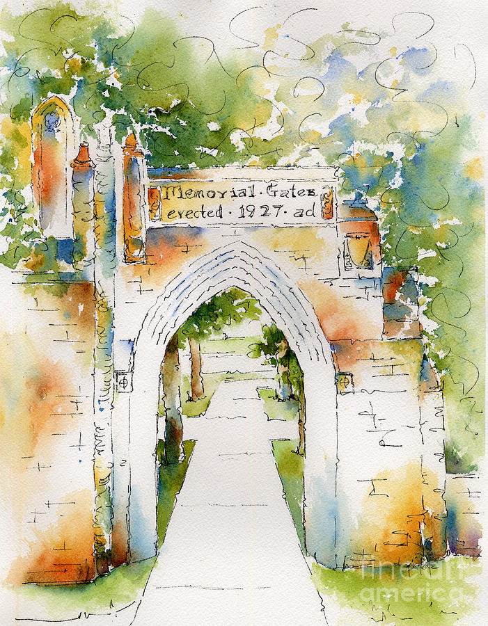 Impressionism Painting - Memorial Gates by Pat Katz