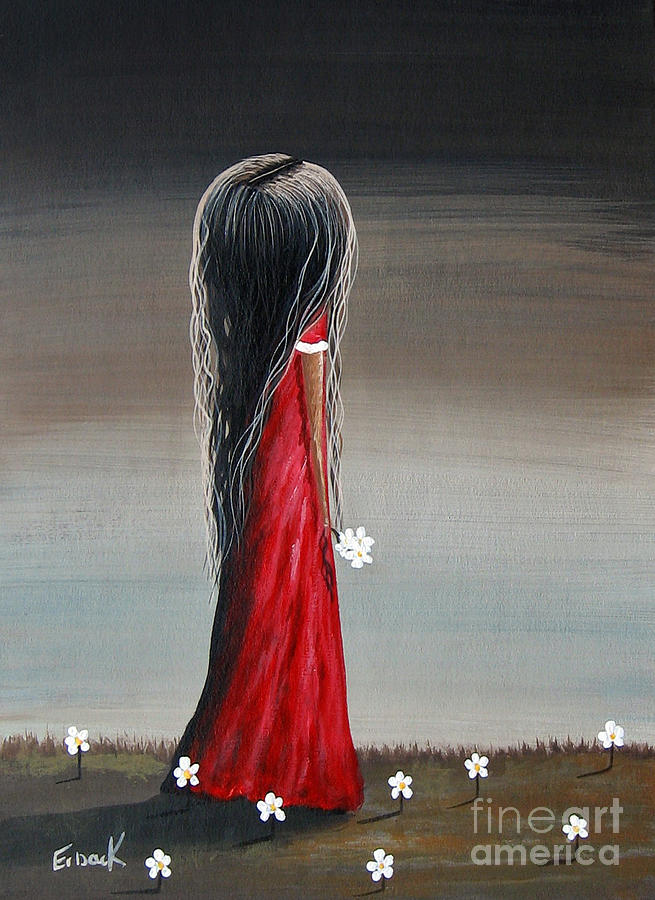Little Girl Painting - Memories By Shawna Erback by Erback Art