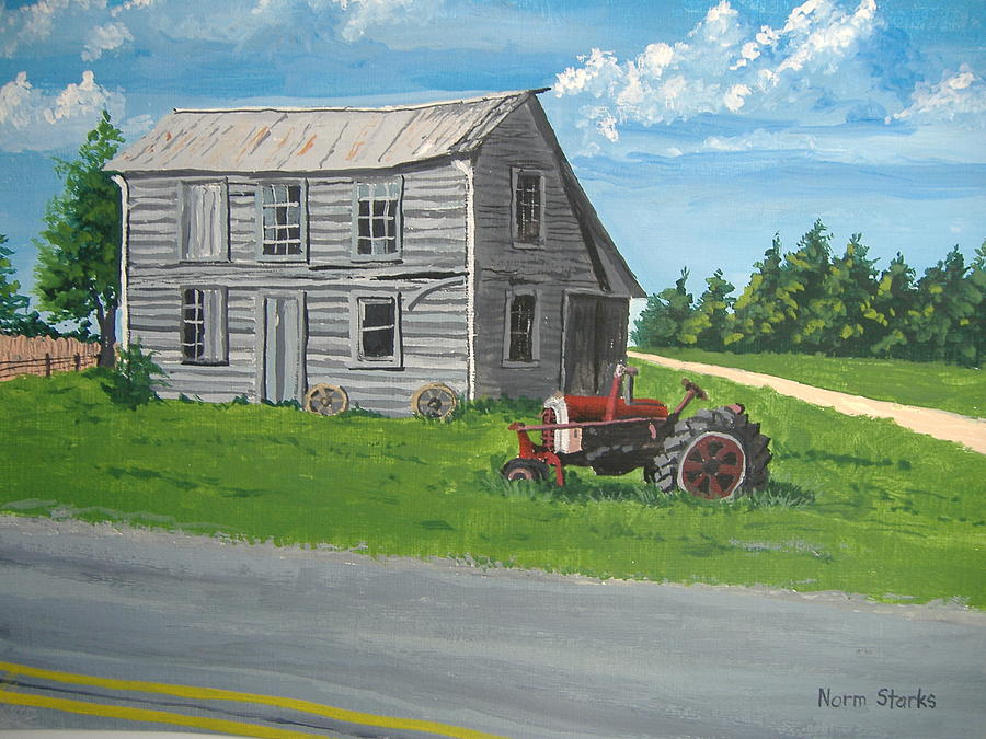 Farmhouse Painting - Memories... by Norm Starks