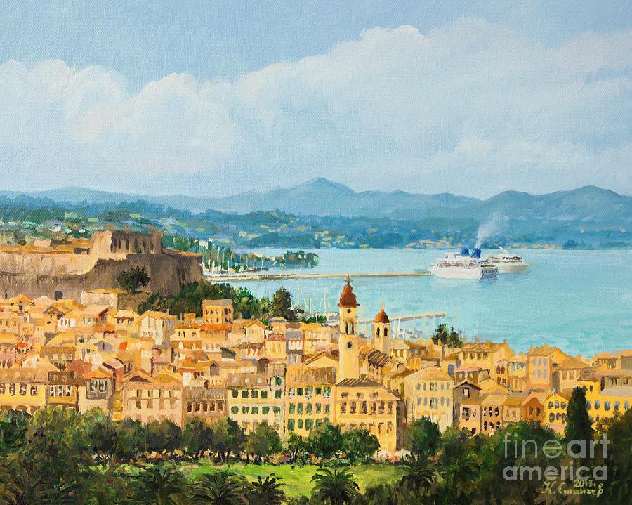 Panorama Painting - Memories Of Corfu by Kiril Stanchev