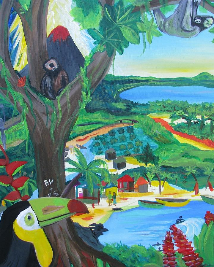 Memories Of Costa Rica Painting By Kelly Simpson Hagen