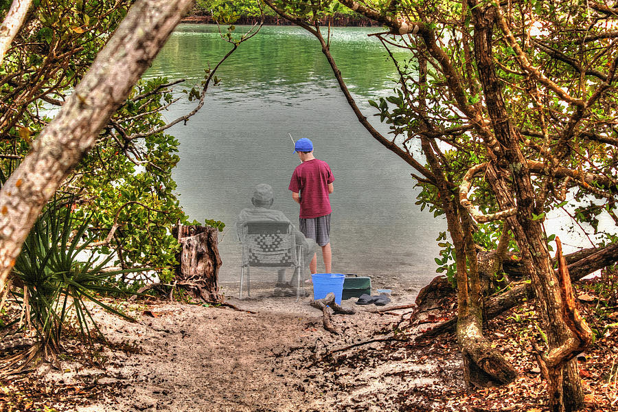 Memories of the Fishing Hole by Ric Potvin