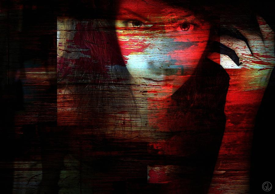 Woman Digital Art - Memory Etched In Wood by Gun Legler