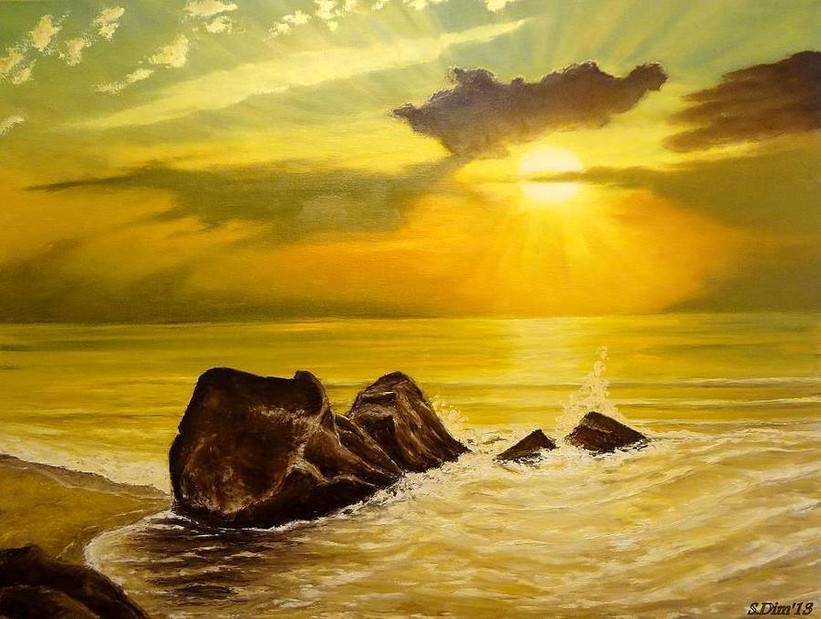 Sea Painting - Memory Of Summer by Svetla Dimitrova