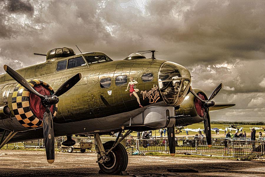 Duxford Photograph - Memphis Belle by Martin Newman