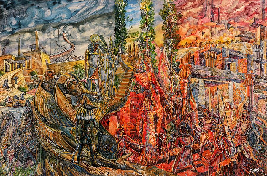 Ancient Egypt Painting - Memphis Evening by Igor Khalandovskiy