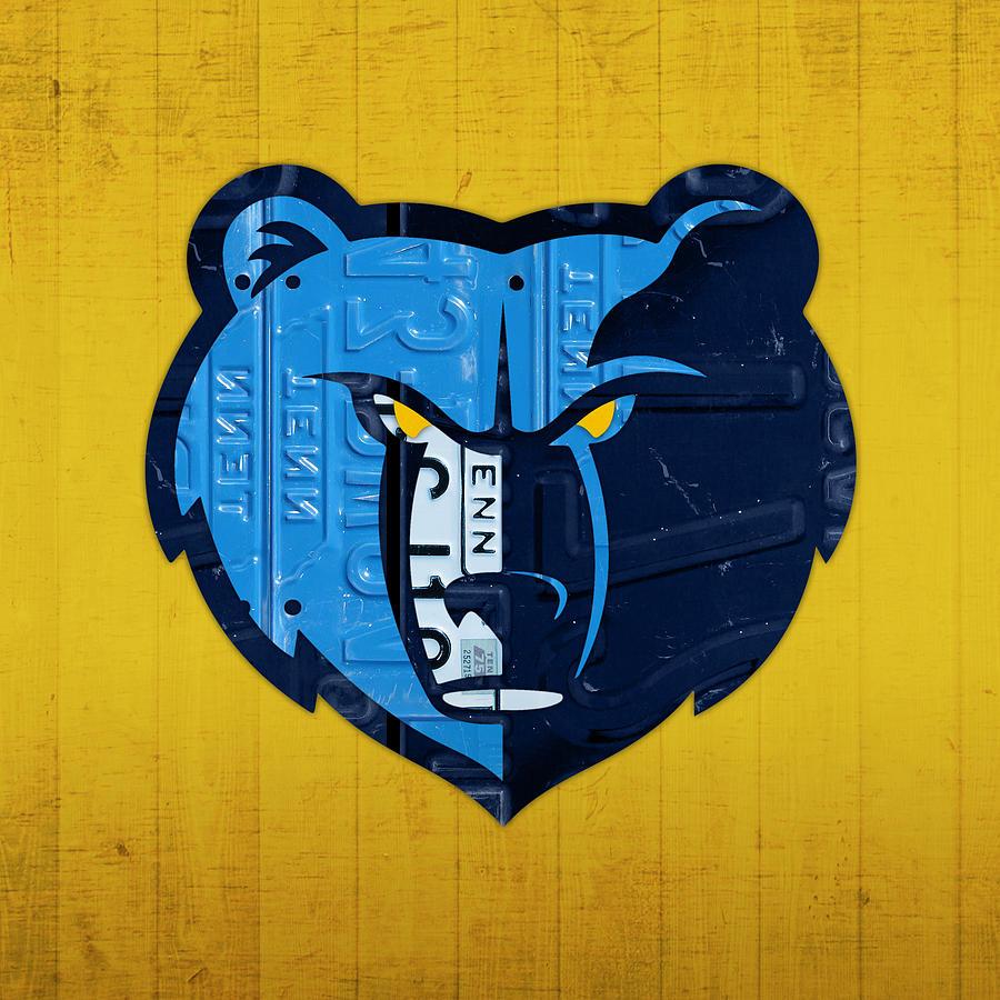 Memphis Grizzlies Basketball Team Retro Logo Vintage