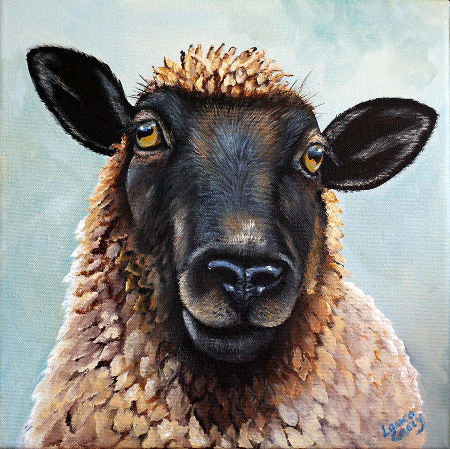 Sheep Painting - Memphis by Laura Carey