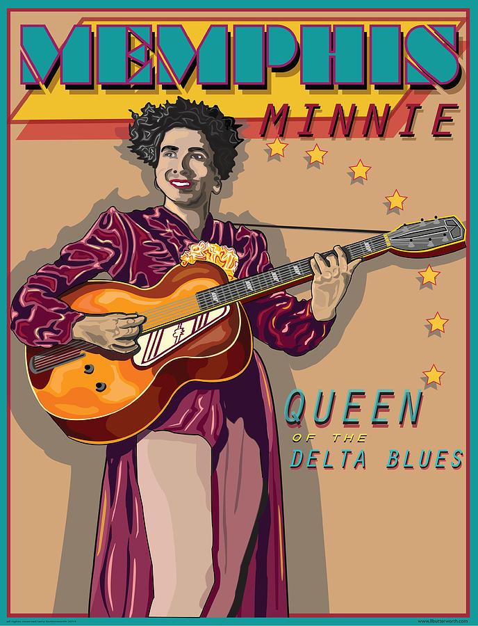 Memphis Minnie Digital Art - Memphis Minnie Queen Of The Delta Blues by Larry Butterworth