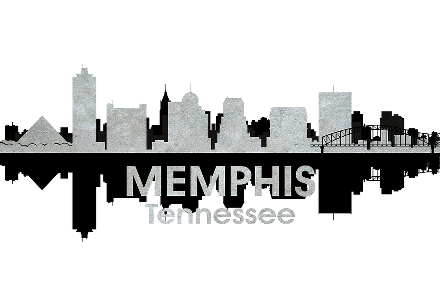 Memphis Tn 4 Mixed Media By Angelina Vick