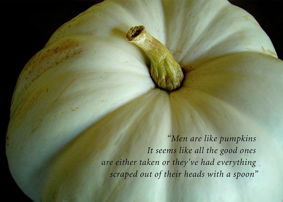 Men Are Like Pumpkins Photograph by James Temple