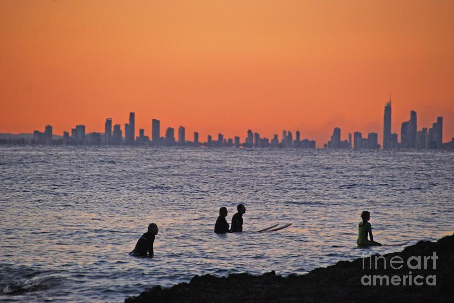 Men on Board Waterscape by Ankya Klay