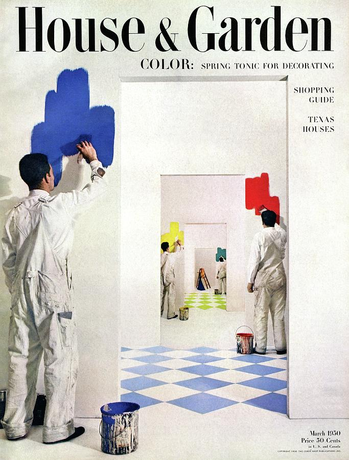 Men Painting Walls In Various Colors Photograph by Herbert Matter