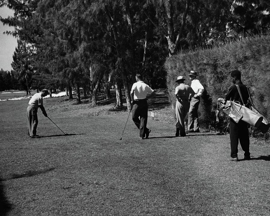 Men Playing Golf At The Jupiter Island Club Photograph by Serge Balkin