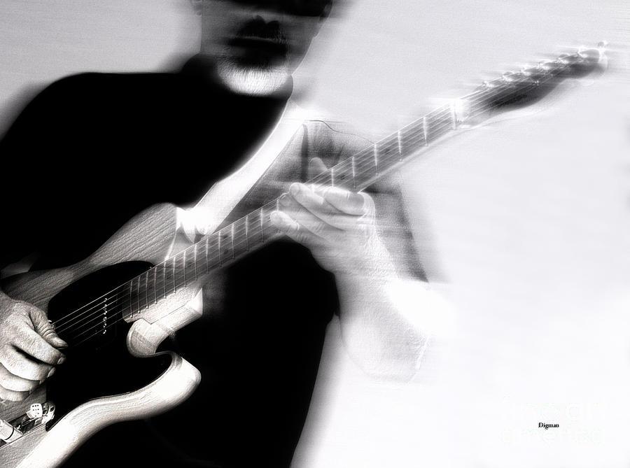 Guitar Photograph - Men Who Play by Steven Digman