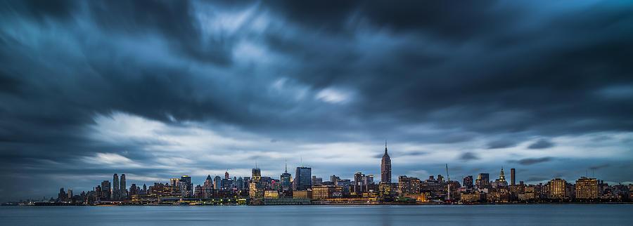 Manhattan Photograph - Menacing Sky Over Manhattan by Chris Halford